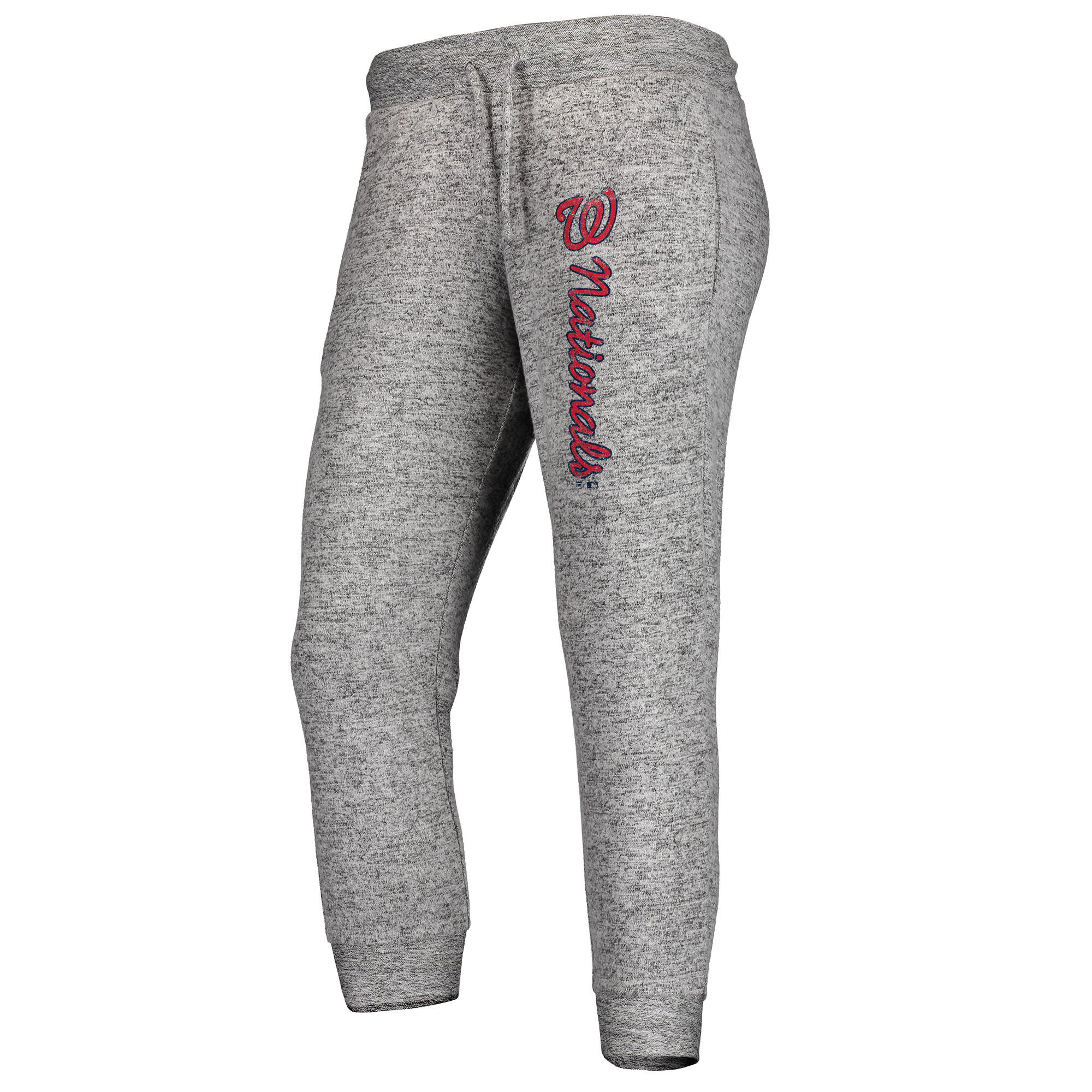 Washington Nationals Fanatics Branded Women's Cozy Steadfast Jogger Pants - Heathered Gray