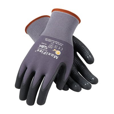 34-844/S Small MaxiFlex Endurance by ATG 15 Gauge Abrasion Resistant Black Micro-Foam Nitrile Palm And Fingertip Coated Work Gloves With Gray Seamless Knit.., By Protective Industrial Products