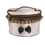 Hanging Toiletry Travel Organizer Zipper Cosmetic Makeup Bag Case Light Apricot