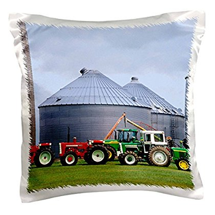 3dRose Farm, vintage tractor collection, Wisconsin - US50 DFR0002 - David R. Frazier, Pillow Case, 16 by 16-inch