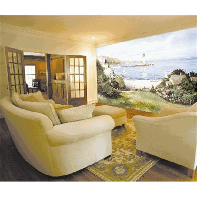 environmental graphics c823 wall mural lighthouse cove simple map mural environmental graphics murals your way
