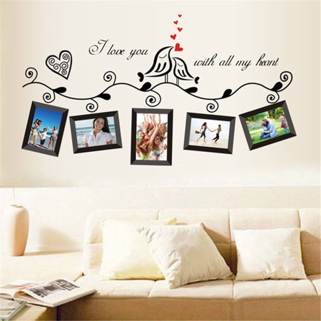 Wall Decor Sticker,Kapmore Removable Picture Frame Wall Decal Wall Decorations Wall Paper for Bedroom Living Room (Wall Flame Decal)