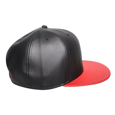 Origins - The Cap Guys TCG / Inspired Exclusives Black and Red PU Leather Snapback - image 2 of 5