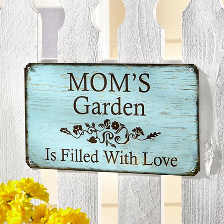 Personalized Garden Metal Sign  14  X 8