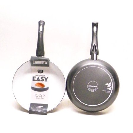 Bialetti 07263 Aeternum Easy Saute Pan 10 Inch Silver