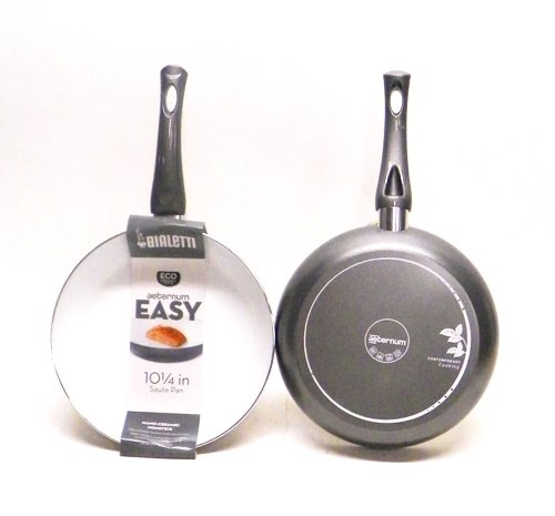 Bialetti 07263 Aeternum Easy Saute Pan, 10-inch, Silver