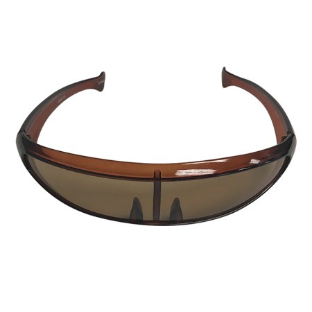 Brown Robot Style Wrap Around Sunglasses  Cyclops Costume X-Men Robocop Alien (Cyclops X Men Costume)