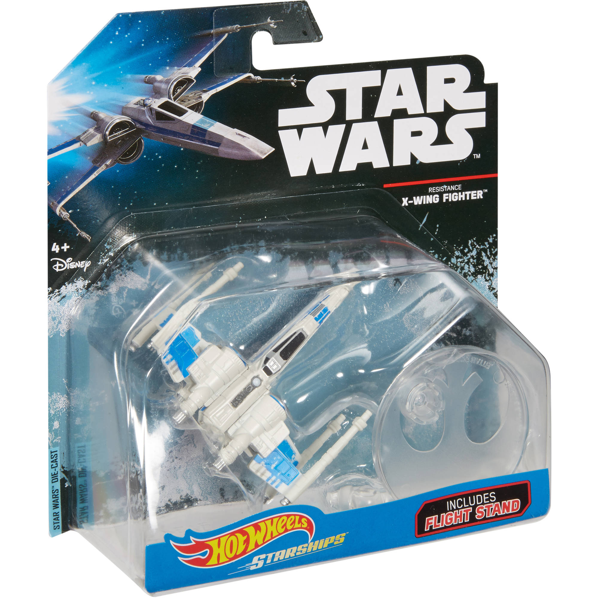 Star Wars Hot Wheels Starships Resistance X-wing Fighter.Brand New w