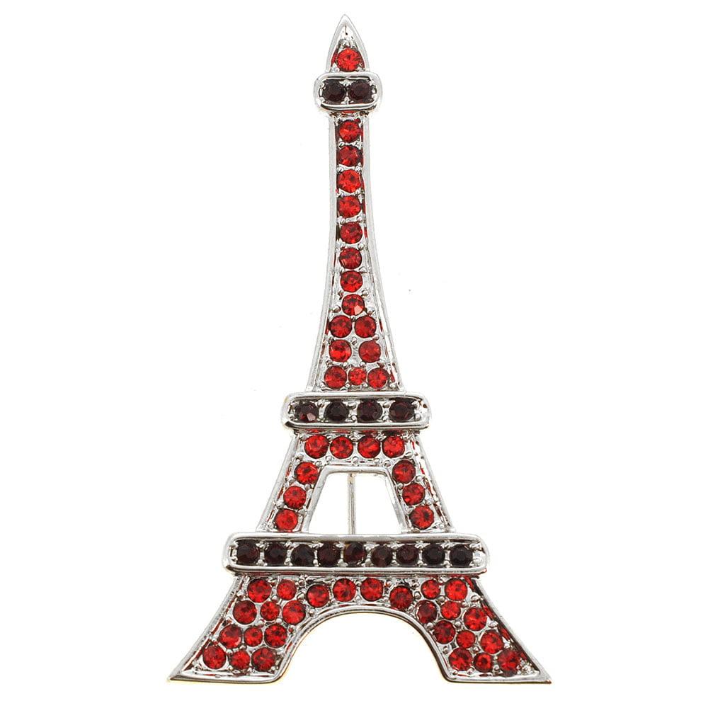 Ruby Paris Eiffel Tower Brooch Pendant by
