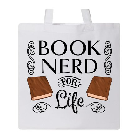Book Nerd for Life Tote Bag White One Size](White Tote Bags)