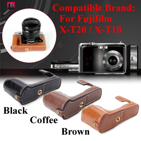 New PU Leather Half Case for Fuji Fujifilm X-T20/XT20/X T20 Digital Camera (Fuji Digital Camera Case)