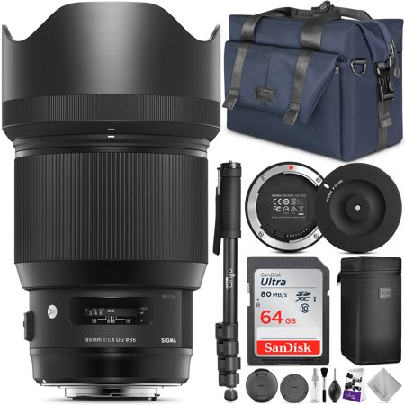 Sigma 85mm f/1.4 DG HSM Art Lens for CANON EF Cameras (321954) w/ Advanced Photo and Travel