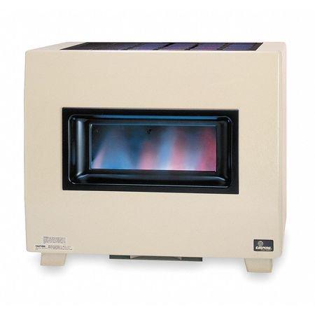 EMPIRE RH50BLP Gas Fired Room Heater,16 In. D,34 In. W (Empire Millivolt Thermostat)