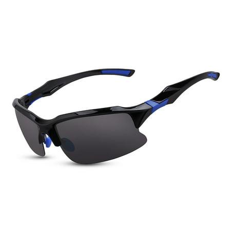 Bike Cycling Glasses Sports Sunglasses UV Polarized Lens for Fishing Golfing Driving Running (Polarized Cycling Sunglasses)