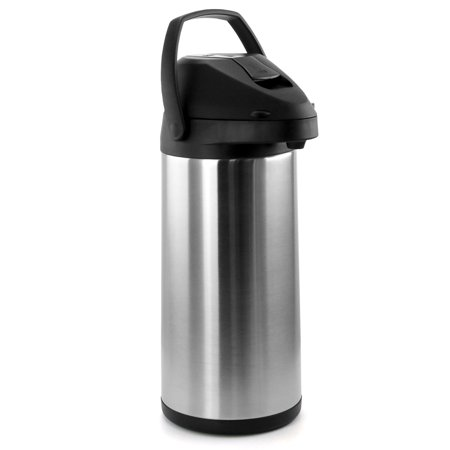 MegaChef 5L Stainless Steel Airpot, Hot Water Dispenser for Coffee and Tea Hot Water Airpot