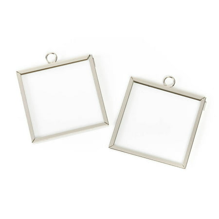 Euro Silver Frame Square (Frame Charms: Square, Silver, 2 x 2)