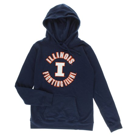 Cover One Womens Illinois Fighting Illini Pullover Hoodie Navy