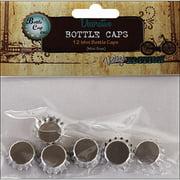 """Vintage Collection Mini Bottle Caps, 5"""", Chrome"""