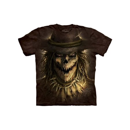 91f9783b93dc3 Brown 100% Cotton Scarecrow Graphic Novelty T-Shirt