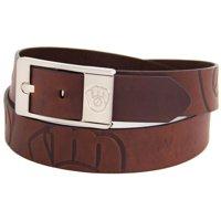 Milwaukee Brewers Brandish Leather Belt - Brown
