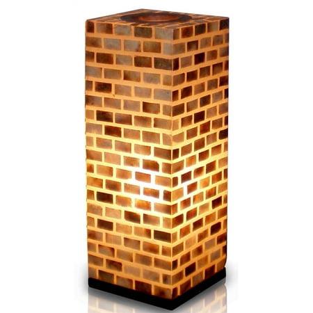 valentti square capiz shell table lamp w black wood base. Black Bedroom Furniture Sets. Home Design Ideas