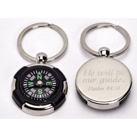 Keychain-Compass-God's Direction Is Always Best (Psalm