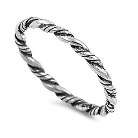Bali Sterling Silver Box (Rope Eternity Braid Bali Thumb Ring New .925 Sterling Silver Band Size 10 )