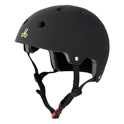 """""""Triple Eight Dual Certified Helmet ALL Black Rbr S/M"""""""