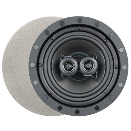 Channel Vision CVID853 8 in. Soprano ARIA Single Point Stereo In-Ceiling Frameless Speaker (Channel Vision Color Single)