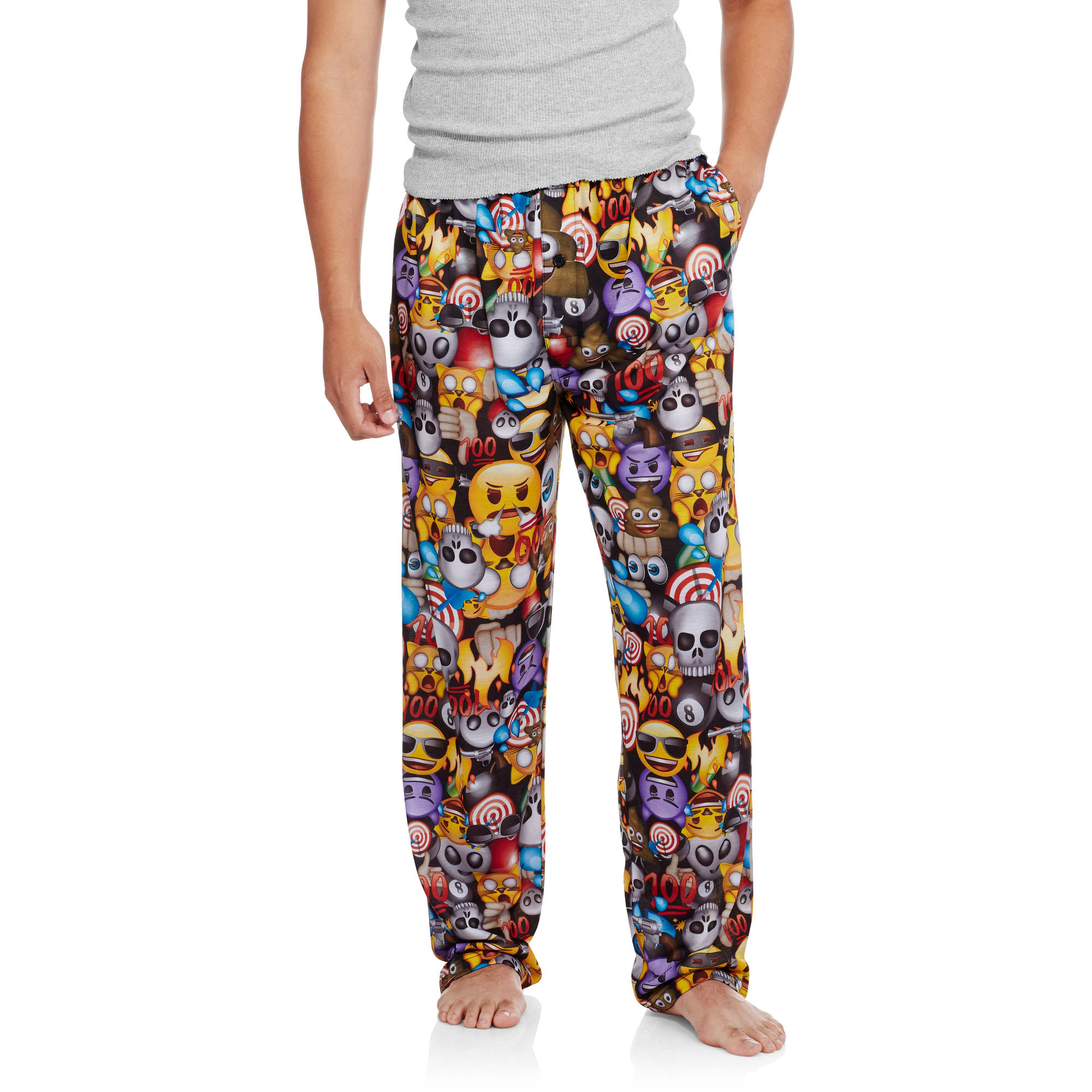 Big Men's Emoji Poly Jersey Pant