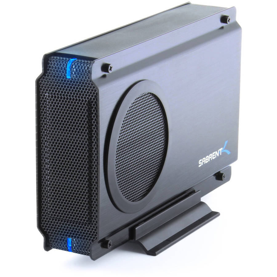 "Sabrent EC-UEIS7 USB 2.0/eSATA to 3.5"" IDE or SATA/SATA II Aluminum Hard Drive Enclosure Case w/ COOLING FAN"