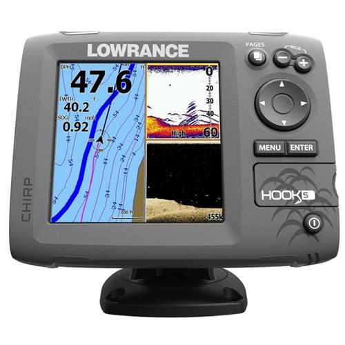 Navico HOOK-5 Nav+ Fishfinder Combo w/DownScan Imaging Te...