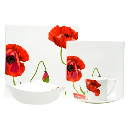 Red Vanilla Summer Sun 5 pc. Place Setting (Red 4 Piece Place Setting)