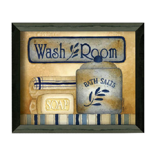 Timeless Frames ''Wash Room'' by Linda Spivey Framed Graphic Art