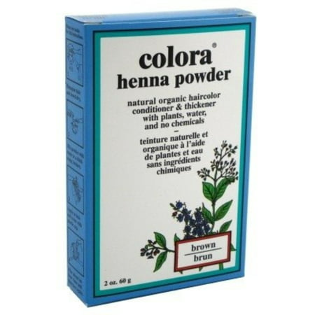 Colora Henna Powder Hair Color Brown, 2 oz