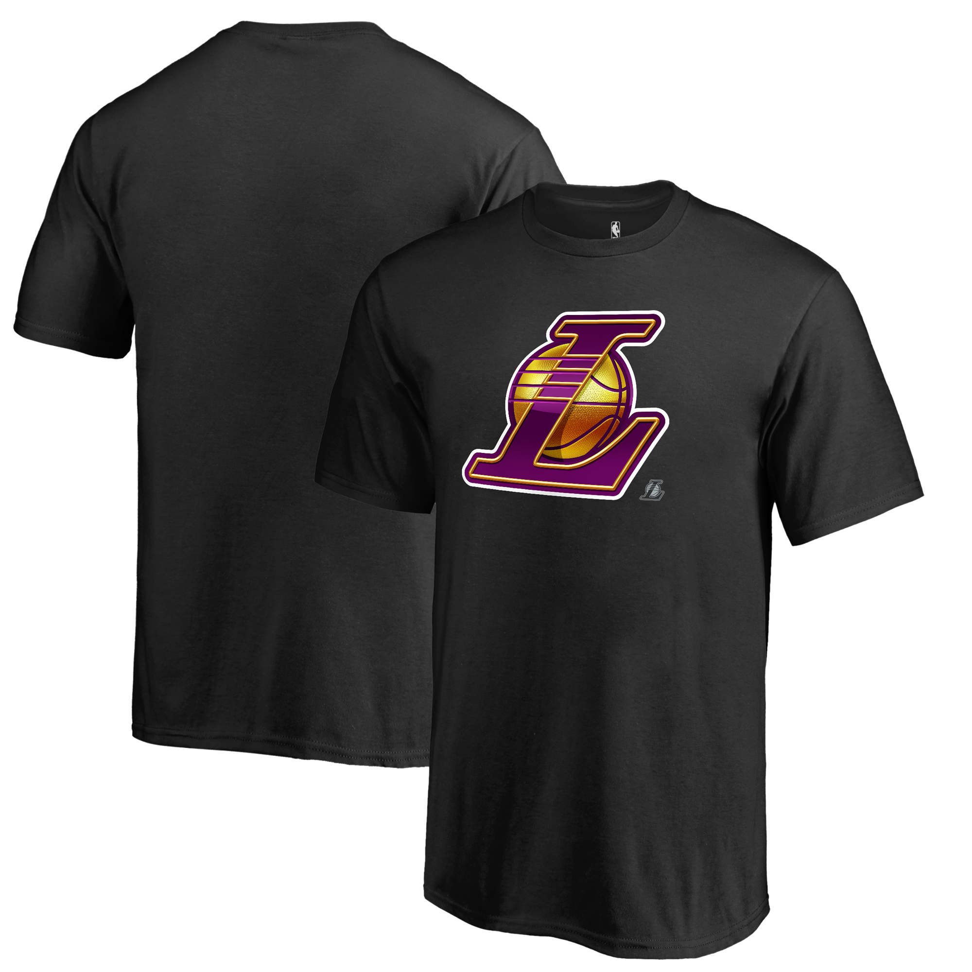 Los Angeles Lakers Fanatics Branded Youth Midnight Mascot T-Shirt - Black