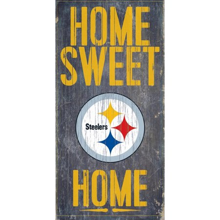 Pittsburgh Steelers 6'' x 12'' Home Sweet Home Sign - No (Pittsburgh Steelers Zone Sign)