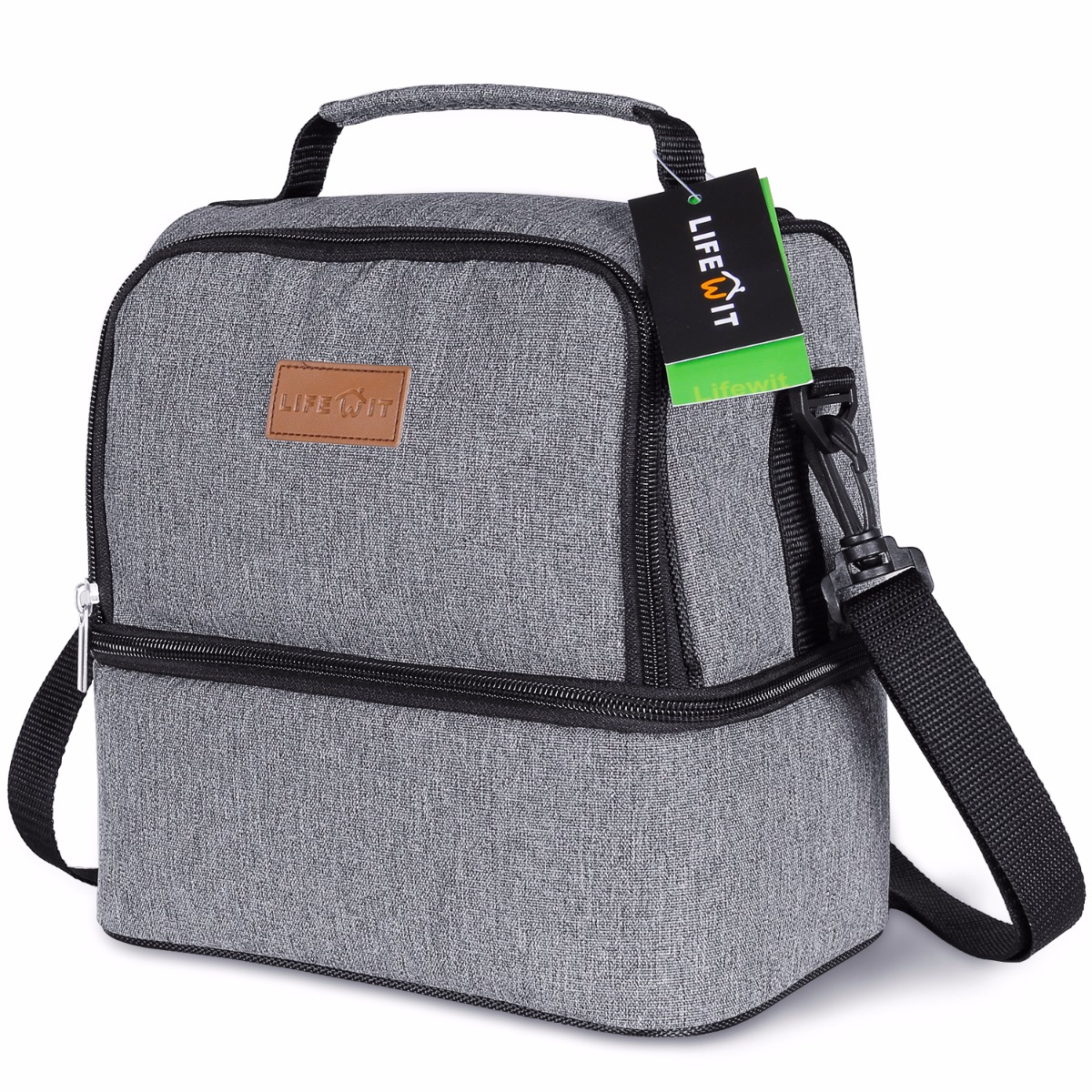 Lifewit 7L Insulated Lunch Bag Portable Waterproof Thermal Cooler Lunch Box Picnic Bag Tote Dual Compartment