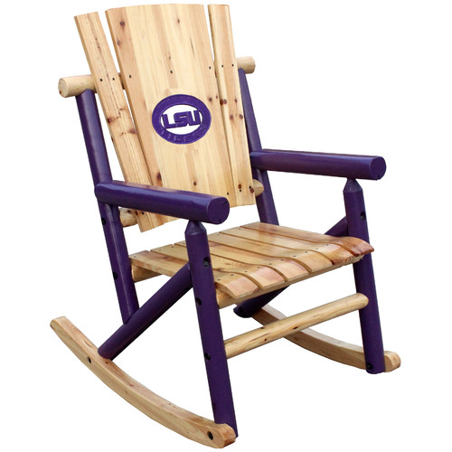 "Leigh Country Single Rocker With LSU ""Tigers"" Medallion"