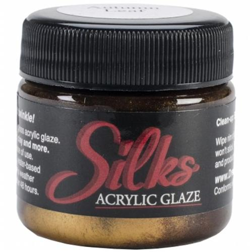 Silks Acrylic Glaze 1Oz Jar-Autumn Leaf