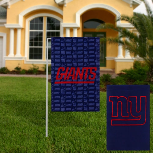 New York Giants Glitter Suede Garden Flag - No Size