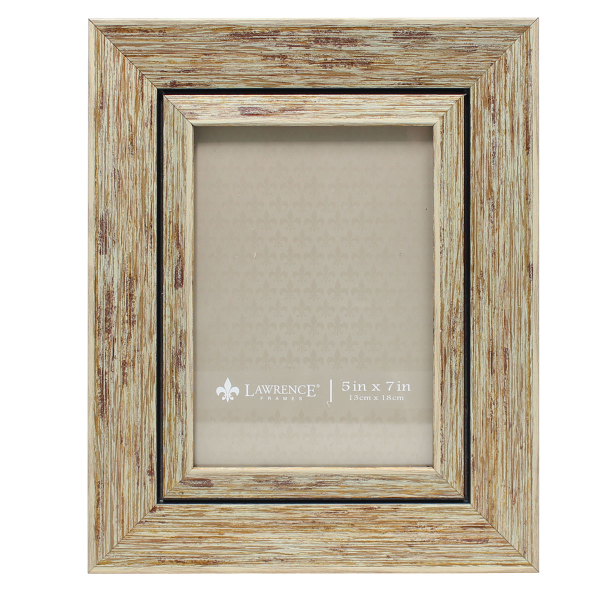 5x7 Weathered Natural Decorative Picture Frame by Lawrence Frames