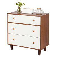 "3 Drawers Dressers for Bedroom, Heavy Duty Bedroom Side Table Bedside Table, Dressers with 4 Sturdy Legs, Wood Chest of Drawers, Compact Storage Drawers, Holds up to 165 lbs, 32"" x 16"" x 32"", Q2676"