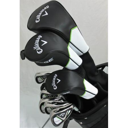 Mens Callaway Complete Golf Set Driver, Fairway Wood, Hybrid, Irons, Putter, Bag Stiff Flex