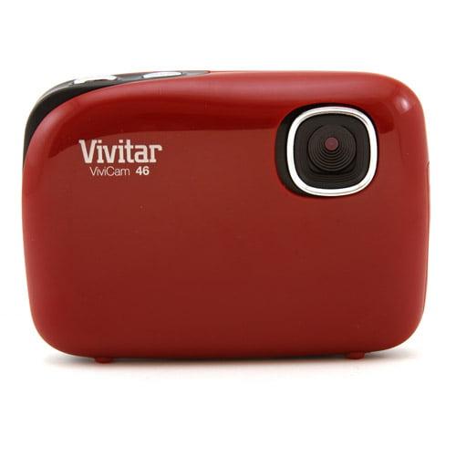 VivitarV46 REDr 4.1MP Digicam w 1.4in Prvw Scrn Red