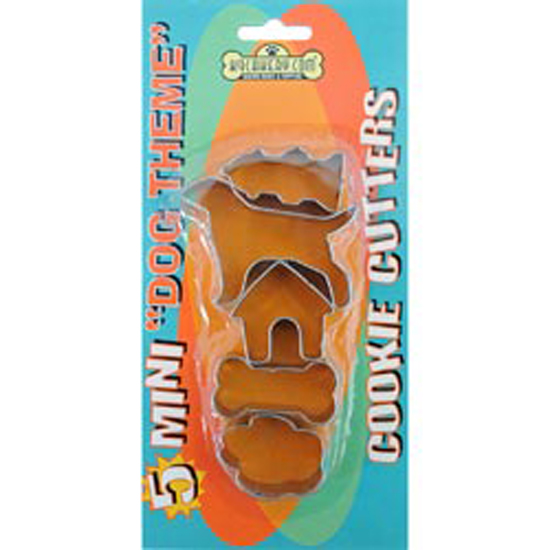 K9 Cakery 84410 Cookie Cutters Dog Theme, Mini, 5-Pack