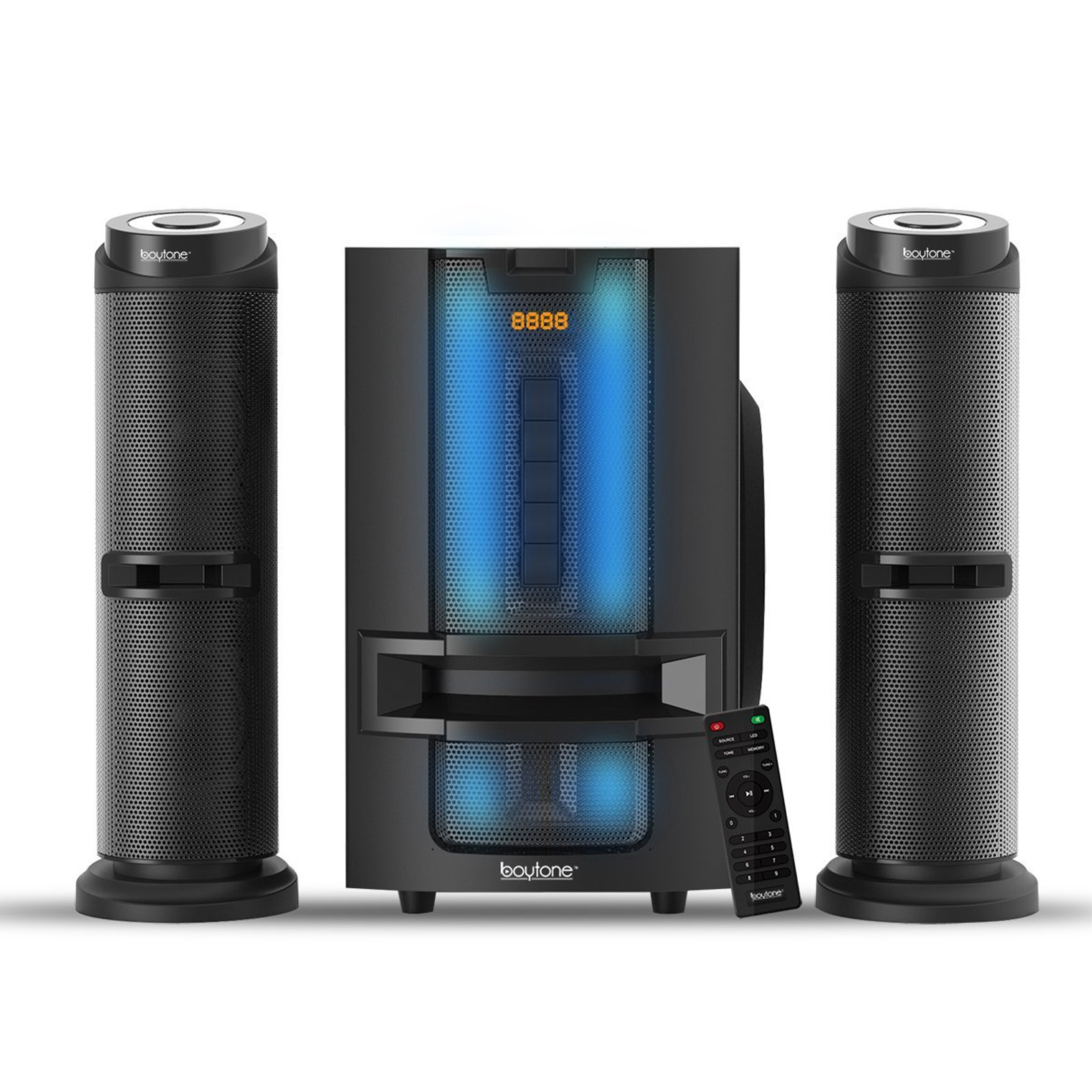 Boytone 2.1 BT Powerful Home Theater Speaker System with FM Radio by Boytone
