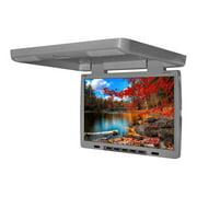 "Tview T154DVFDGR 15.4"" Flip Down Monitor with built in DVD IR/FM trans Gray"
