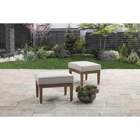 Better Homes and Gardens Davenport 2 Piece Outdoor Ottomans