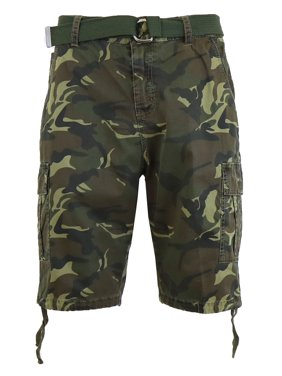 ec79742f13b4 Product Image Mens Distressed Belted Cotton Cargo Shorts